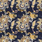 Vintage floral seamless paisley pattern — Stockvector