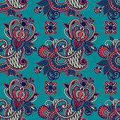 Vintage floral seamless paisley pattern — Stock vektor