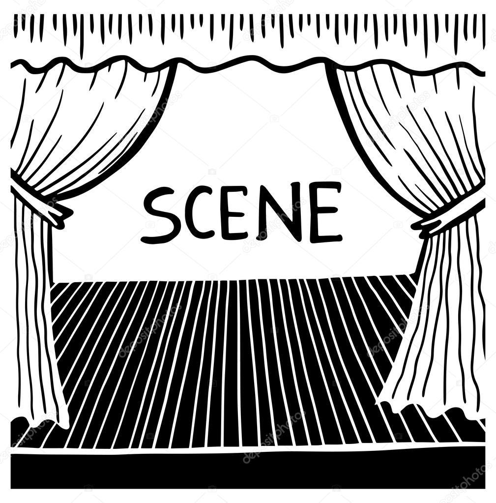рисунок сцены: