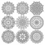 ornement dentelle de cercle, rond motif ornemental napperon géométrique — Vecteur #31618271