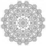 ornement dentelle de cercle, rond motif ornemental napperon géométrique — Vecteur #31618541