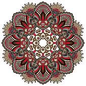Ornamento de laço de círculo, redondo ornamental geométrica doily padrão — Vetorial Stock