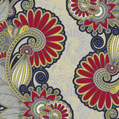 Vintage floral ornamental template — Vecteur