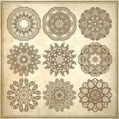 Conception de cercle de fleur — Vecteur