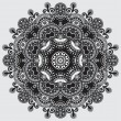 Circle lace ornament — Stockvectorbeeld