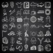 49 hand drawing doodle icon set — Stock Vector #31774639