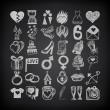 36 hand drawing doodle icon set — Stock Vector