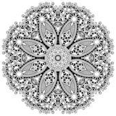 Cirkel kant ornament — Stockvector