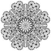Ornamento pizzo cerchio — Vettoriale Stock