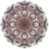 Circle lace ornament — Vecteur