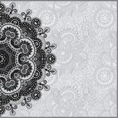Kreis grau Spitze ornament — Stockvektor