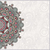 Ornamental template with circle floral background — 图库矢量图片