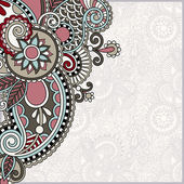 Ornate floral card announcement — Stockvector