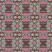 Geometry vintage floral seamless pattern — Stock vektor