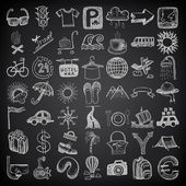 49 hand drawing doodle icon set — Stock Vector