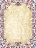 Patrón floral ornamental con lugar para el texto — Vector de stock