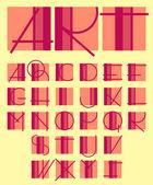 Original unique contemporary alphabet design — Stock Vector