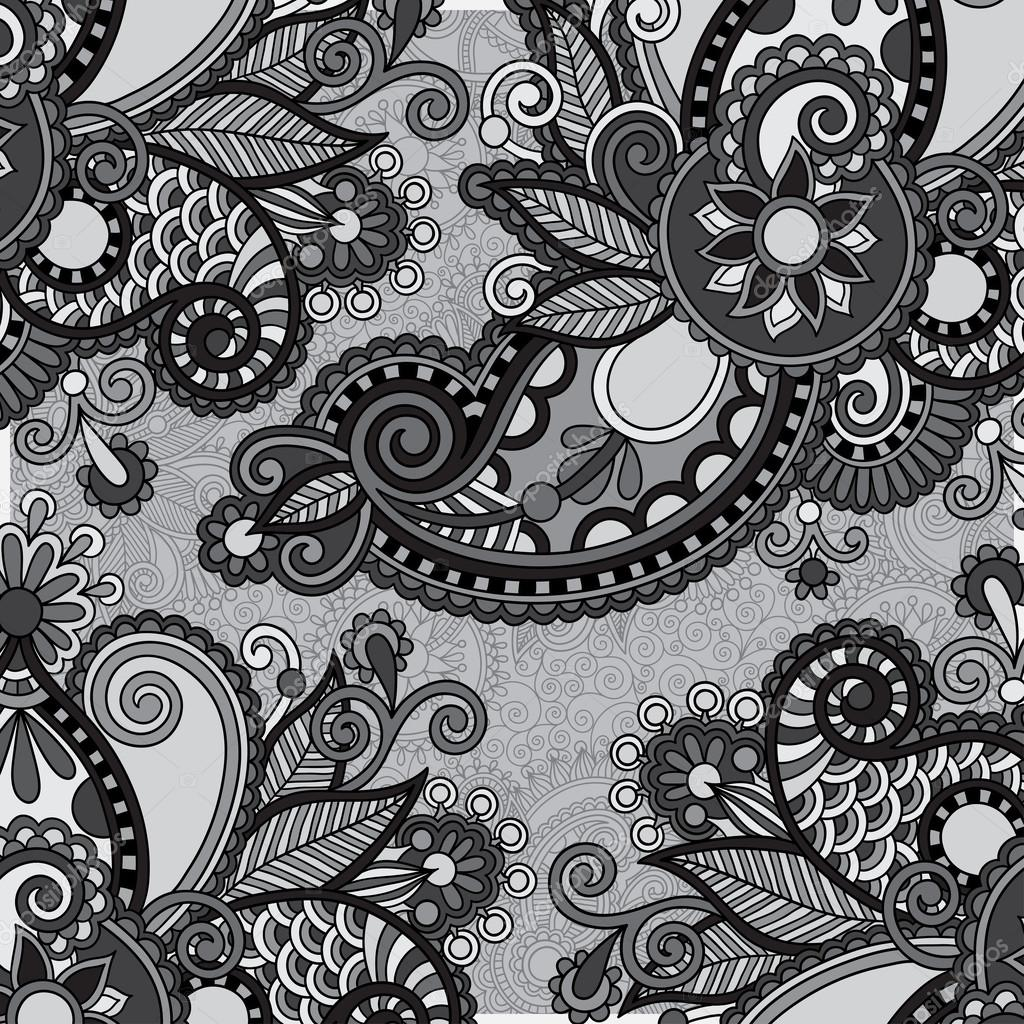 plantilla ornamental floral vintage gris sobre fondo de flores vector de stock karakotsya. Black Bedroom Furniture Sets. Home Design Ideas