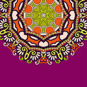 Decoratieve sjabloon met cirkel floral achtergrond — Stockvector