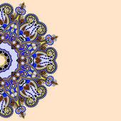 Ornamentální šablona s květinovým pozadím kruh — Stock vektor