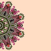 Ornamental template with circle floral background — Stockvektor
