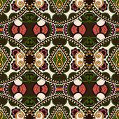 Vintage motif floral sans soudure de géométrie — Vecteur