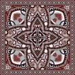 Traditional ornamental floral paisley bandanna. — Stock vektor