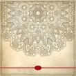 Flower circle design on grunge background with lace ornament. — Stock Vector #32080913