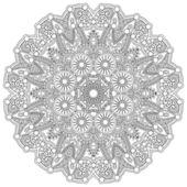 Ornement dentelle cercle — Vecteur