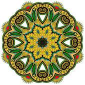 Ornamento do círculo do laço — Vetor de Stock