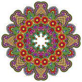 Ornament krajky kruhu — Stock vektor