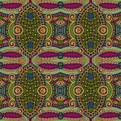 Geometrie vintage květinový vzor bezešvé — Stock vektor