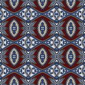 Geometrie vintage naadloze bloemmotief — Stockvector