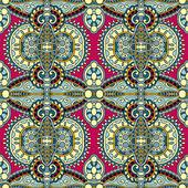 Geometri vintage çiçek seamless modeli — Stok Vektör