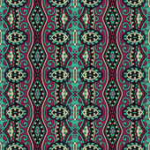 Geometry vintage floral seamless pattern — Stock Vector