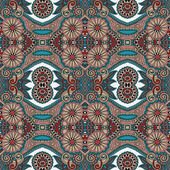 Geometry vintage floral seamless pattern — Vector de stock