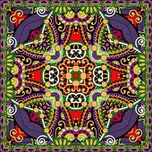 Tradicional pañuelo paisley floral ornamental. — Vector de stock