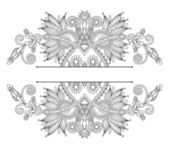 Vintage ethnic ornamental template — Cтоковый вектор