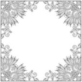Vintage ethnic ornamental template — 图库矢量图片