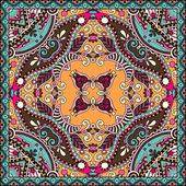 традиционный декоративный цветочный цветной платок пейсли. — Cтоковый вектор