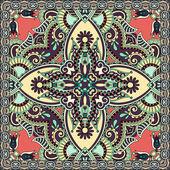 Traditionele versiering floral paisley Bandana. — Stockvector