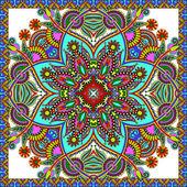Traditional ornamental floral paisley bandanna. — Stock Vector