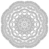 Circle lace ornament — Stock Vector