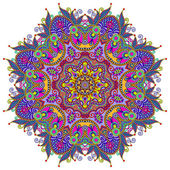 Circle lace ornament — Stock vektor