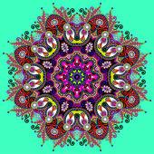 Circle lace ornament — Vettoriale Stock