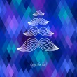 Mustache tree christmas card — Image vectorielle