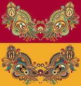 Neckline embroidery fashion — Stock Vector