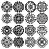 Adorno de encaje de círculo — Vector de stock