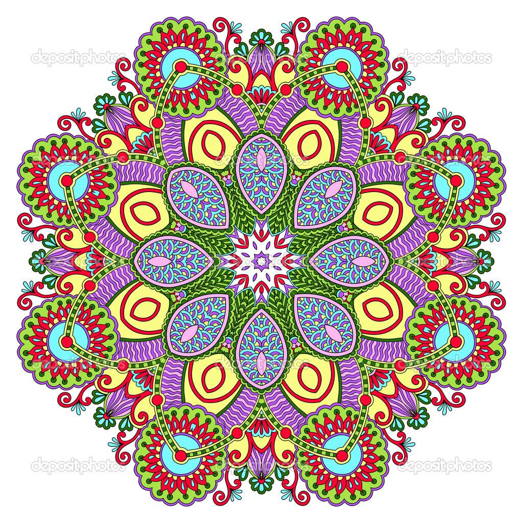 圈花边装饰,圆的观赏几何花边图案