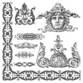 Heraldic design element of Lviv historical building — Stock Vector